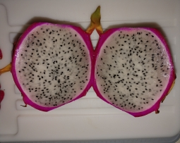 Inside a dragon fruit