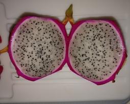 Inside a dragon fruit