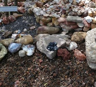 Obsidian shards from garden at Cañada de la Virgen. Photo by Angela Grier