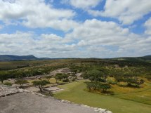 View of third structure from main pyramid. Photo by Angela Grier