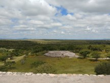 View of House of the Wind from main pyramid. Photo by Angela Grier