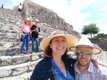 An incredibly fun experience for our family at Cañada de la Virgen. Photo taken by Husband of Angela Grier
