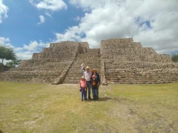 Our family at Cañada de la Virgen. Photo taken by our tour guide