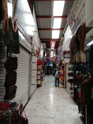 Our first warehouse in Zona Piel - still too early to shop