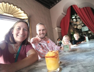 Cooling down at the bar in Meson de Santa Rosa