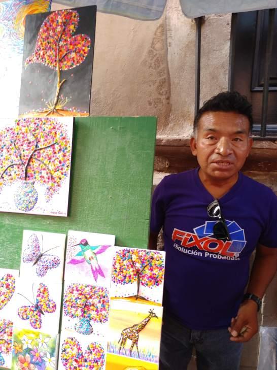 Artist in Querétaro. Photo by Angela Grier