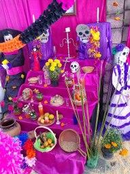 Altar at Feria Artesanal del Alfeñique. Photo by Angela Grier