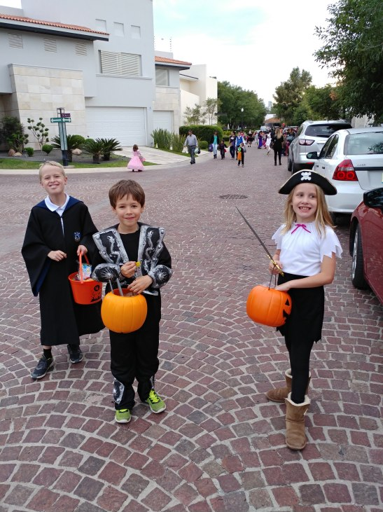 Trick-or-treating. Photo by Angela Grier