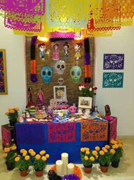 Altar for dia de los muertos. Photo by Angela Grier