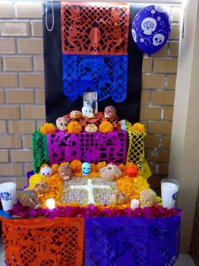 School altar for dia de los muertos. Photo by a friend
