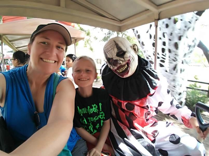 Scary clown selfie