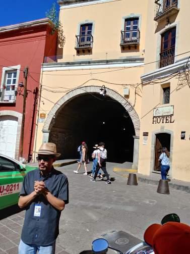 Subterranean road, City of Guanajuato. Photo by Angela Grier