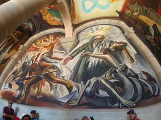 Mural inside the Regional Museum of Guanajuato (Alhondiga de Granaditas). Photo by Angela Grier
