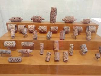Aztec artifacts inside the Regional Museum of Guanajuato (Alhondiga de Granaditas). Photo by Angela Grier