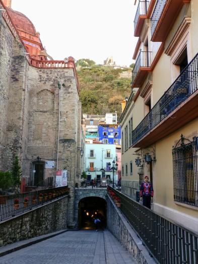 Subterranean street, City of Guanajuato. Photo by Angela Grier