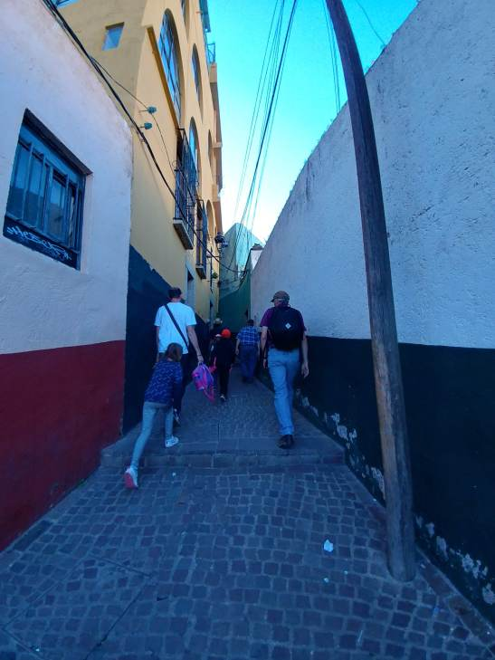 Hiking back up to El Pipila, City of Guanajuato. Photo by Angela Grier