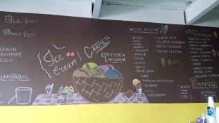 Ice Cream Shop Menu. Photo by F. Bravo