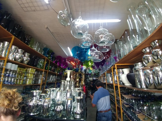 One of many glass shops. Photo by Angela Grier