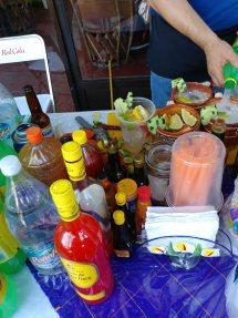 Making street margaritas. Photo by Angela Grier