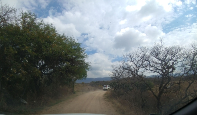 Driving to Comanja de Corona. Photo by Angela Grier