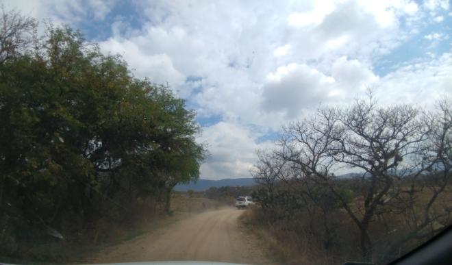 Driving to Comanja de Corona. Photo by Angela Grier