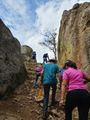 Climbing up to Peña de la Bufa. Photo by Angela Grier