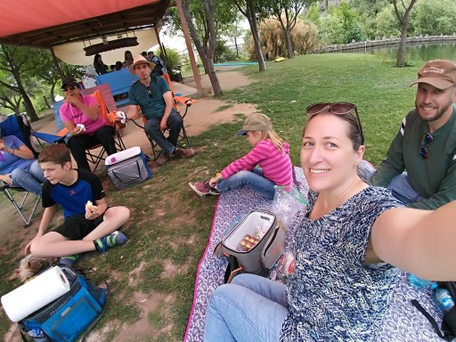 Picnicking at Echological. Photo by Angela Grier
