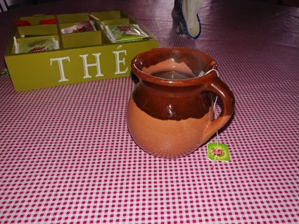 Tea in a clay mug. Photo by Angela Grier