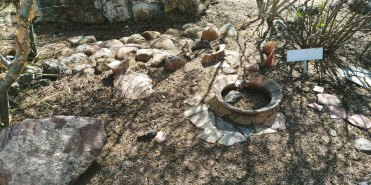Artifacts found at Cañada de la Virgen. Photo by Angela Grier