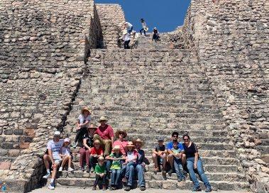 Steps at Cañada de la Virgen pyramid. Photo by Alberto Aveleyra