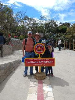 The red line indicates the location of latitude 0. Photo by Angela Grier