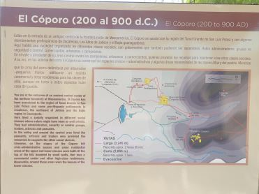 El Coporo information. Photo by Angela Grier