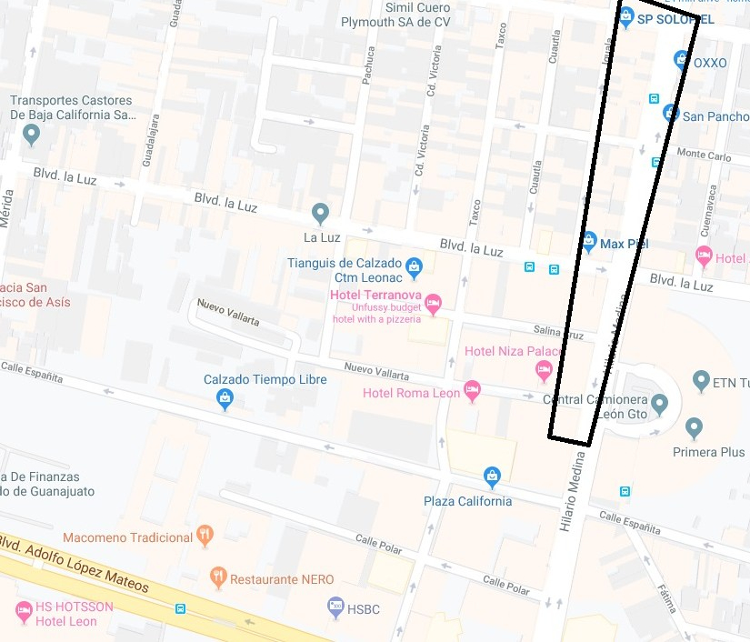 Areas I have shopped in Zona Piel